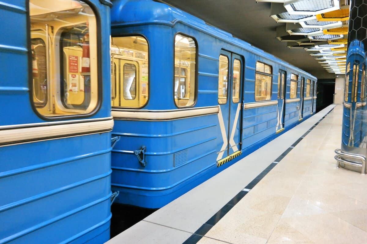 Вагон метро, ничем не отличается от вагона метро в Москве.